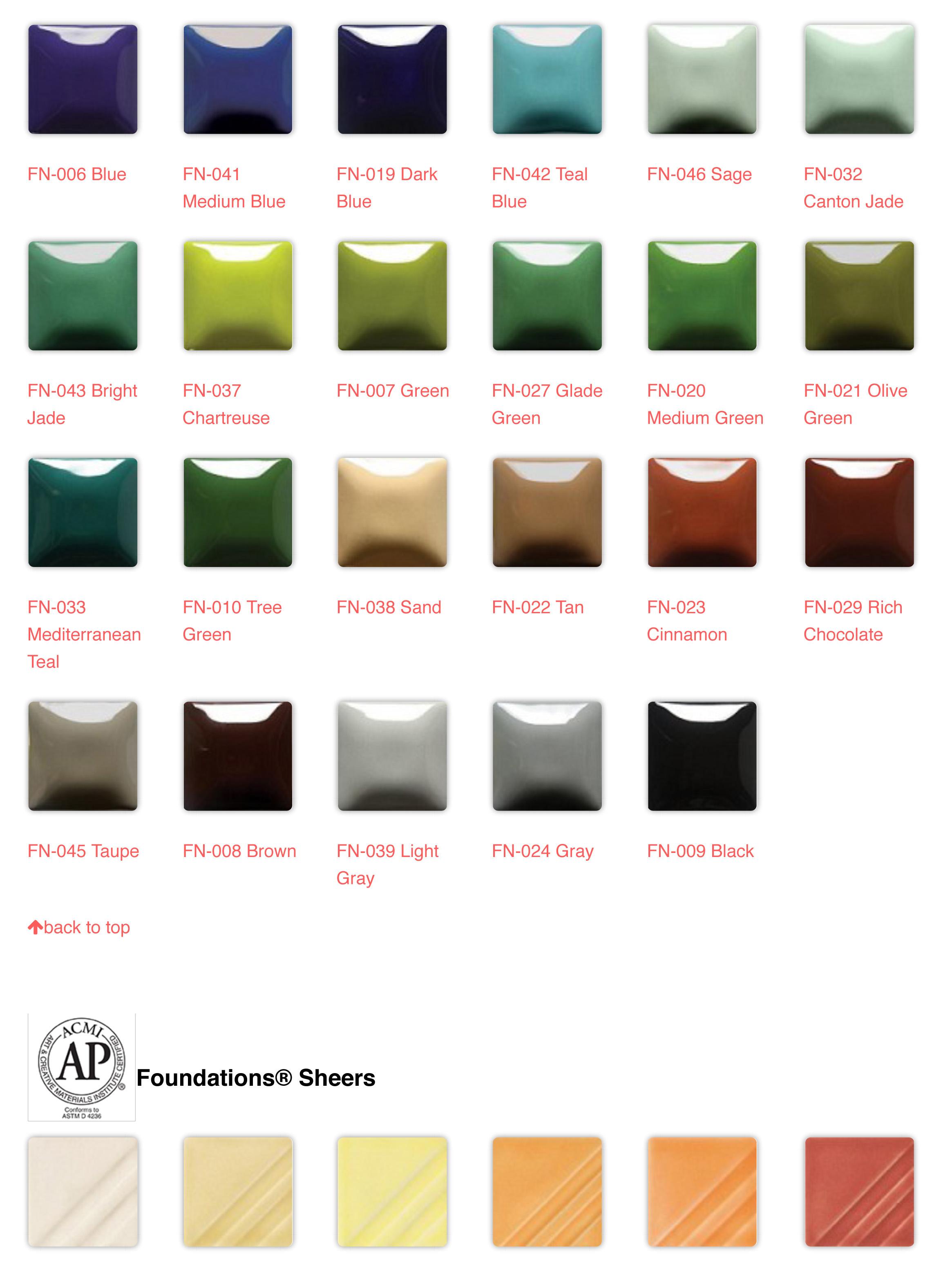 Foundations Palette